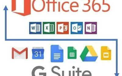 GOOGLE G-Suite ou OFFICE 365, lequel est le meilleur pour VOTRE entreprise ?